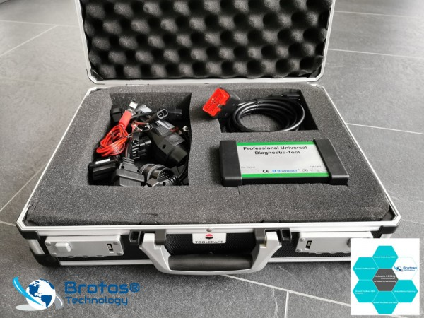 Brotos® Pro-Modul OBD2 DIAGNOSE KOFFER Limited Edition inkl. OBD Adapter