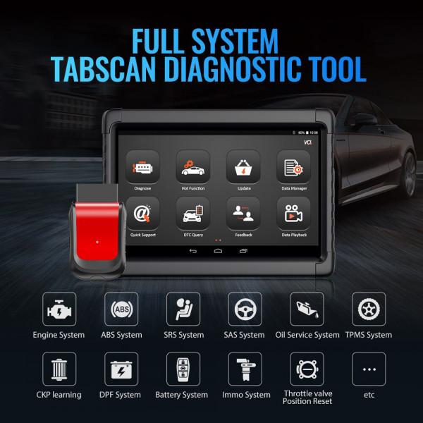 Auto-OBD2-Diagnose Tablet Kfz-Bluetooth-Scan-Codeleser Kfz ABS Airbag Öl EPB DPF Reset