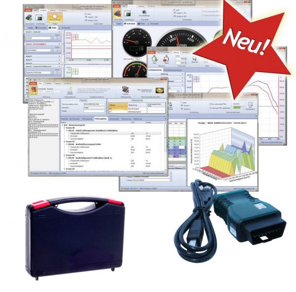 OBD2 Testerset Brotos® B40 mit Interface inkl. Diagnose Software für ALLE KFZ ab Baujahr 2000