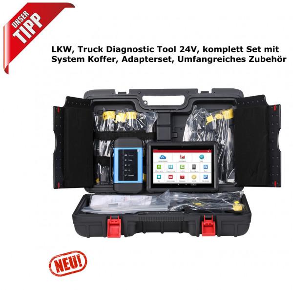 LKW, Truck Diagnostic Tool 24V, komplett Set mit System Koffer, Adapterset, Umfangreiches Zubehör