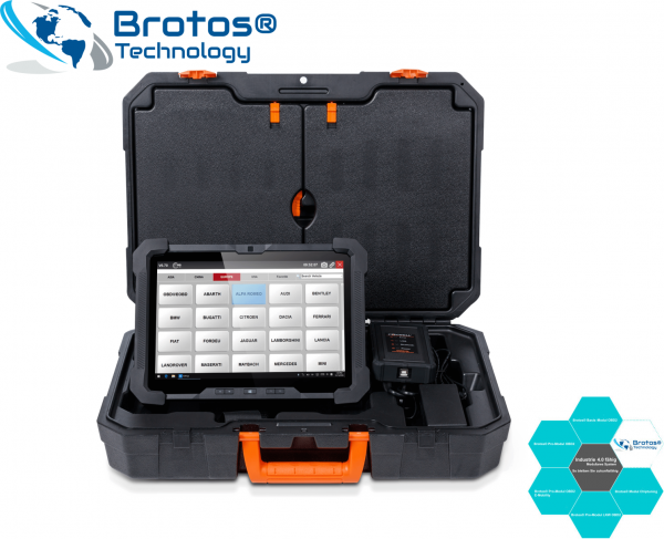 Professional DIGITAL TIEFEN KFZ Diagnose,- und Einstell-Gerät, Brotos® Pro-Modul OBD2 800P Komplett